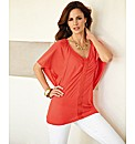 Olsen Raglan Sleeve Linen Mix Top