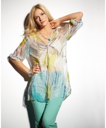 Vetono 3/4 Sleeve Silk Tunic