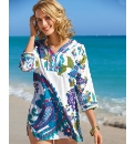 Pomodoro Pleated Edge Cotton Kaftan