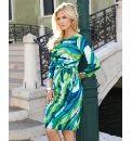 Gina Bacconi Jersey Drape Dress
