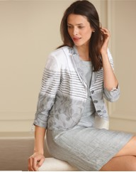 Gerry Weber 3/4 Sleeve Jacquard Jacket