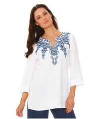 Gerry Weber Embroidered Linen Kaftan