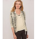 Olsen Zebra Print Zip Through Jacket