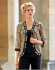 Gray & Osbourn Georgette Zebra Jacket