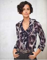 Gray & Osbourn Animal Print Blouse