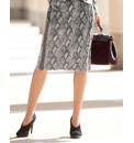 Gelco Snake Print Jersey Pencil Skirt