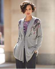 Gelco Knitted Waterfall Cardigan