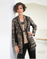 Gerry Weber Zig Zag Knit Long Jacket