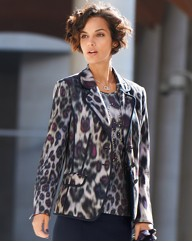 Basler Animal Print Blazer