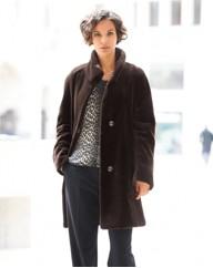 Basler Faux Fur Coat - Gray & Osbourn
