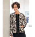 Basler Printed Zip Jacket