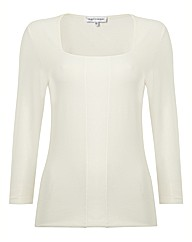 Anise Square Neck Jersey Top
