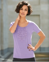 Anise Pleat Neck Top