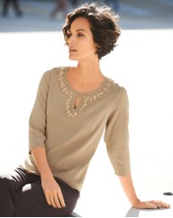 Gray & Osbourn Knitted Notch Neck Jumper