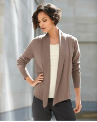Gray & Osbourn Fine Knit Open Cardigan