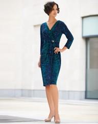 Gina Bacconi Mock Wrap Dress - Gray & Osbourn