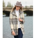 Gray & Osbourn Wool Mix Check Coat