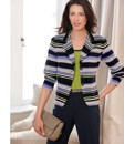 Frank Walder Cotton Stripe Jersey Blazer