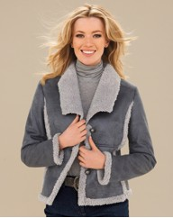 Mock Sheepskin Aviator Jacket