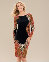 Joseph Ribkoff Paisley Print Dress