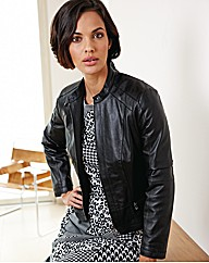 Betty Barclay Leather Biker Jacket
