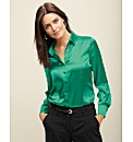 Frank Walder Stretch Satin Blouse