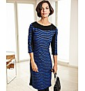 Frank Walder Stripe Jersey Dress