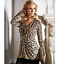 Murek Animal Print Jersey Top