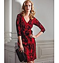 Frank Lyman Flocked Velvet Dress