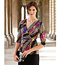 Joseph Ribkoff Mixed Print Jersey Top