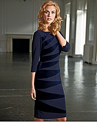 Bernshaw Velvet Insert Asymmetric Dress
