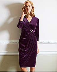 Gina Bacconi Velvet Mock Wrap Dress