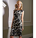 Gina Bacconi Graphic Print Dress