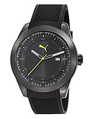 Puma Gents Overdrive Black Strap Watch