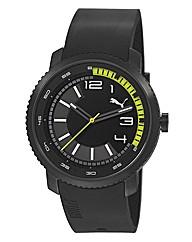 Puma Gents Pursuit Black Strap Watch
