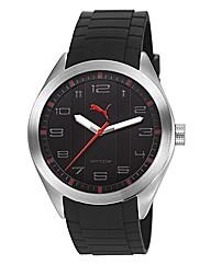 Puma Gents Pace Black Dial Strap Watch