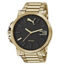 Puma Gents Ultrasize Gold Tone Watch