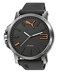 Puma Ultrasize Black and Orange Watch