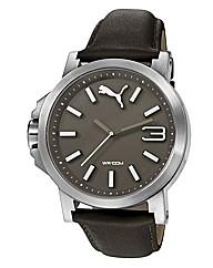 Puma Ultrasize Grey Leather Watch