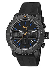 Puma Chronograph Black Dial Strap Watch