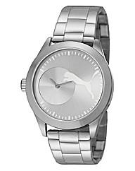 Puma Gents Silver Tone Bracelet Watch
