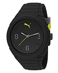 Puma Gents Lifestyle Black Silicon Watch