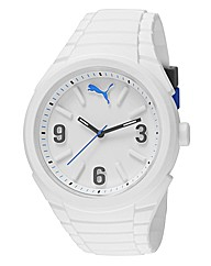 Puma Gents Lifestyle White Silicon Watch