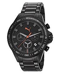 Puma Gents Black Dial Bracelet Watch