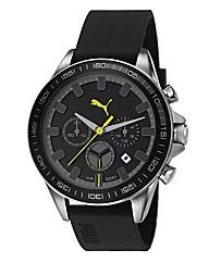 Puma Gents Black Dial Strap Watch