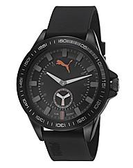 Puma Gents Black & Grey Dial Strap Watch