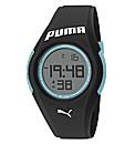 Puma Gents Black Silicon Strap Watch