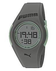Puma Gents Grey Silicon Strap Watch