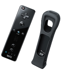 Black Wii Remote + Motion Plus