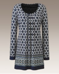 Fusions By East Print Tunic 31in